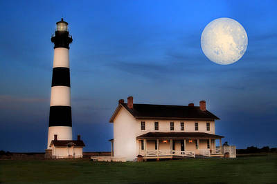 Poster featuring the photograph Bodie Island Lighthouse by Cindy Haggerty