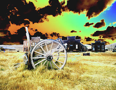 Poster featuring the photograph Bodie Wagon by Jim and Emily Bush