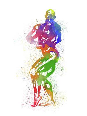 Bodybuilder Watercolor 2 Poster