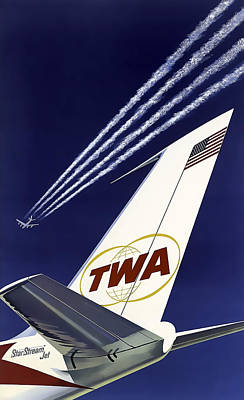 Boeing 707 Trans World Airlines C. 1960 Poster