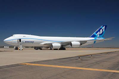 Boeing 747-8 N50217 At Phoenix-mesa Gateway Airport Poster by Brian Lockett