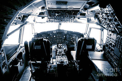 Poster featuring the photograph Boeing 747 Cockpit 22 by Micah May