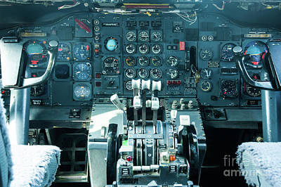 Poster featuring the photograph Boeing 747 Cockpit 23 by Micah May