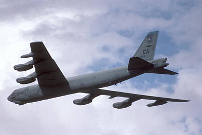 Boeing B-52g Stratofortress 59-2565 93rd Bomb Wing Castle Afb September 17 1992 Poster