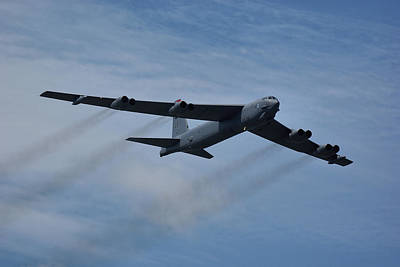 Poster featuring the photograph Boeing B-52h Stratofortress by Tim Beach