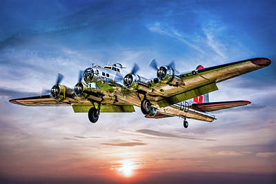 Poster featuring the photograph Boeing B17g Flying Fortress Yankee Lady by Chris Lord