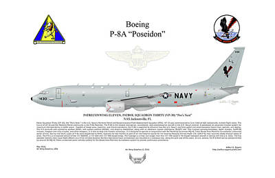 Boeing P-8a Poseidon Poster by Arthur Eggers