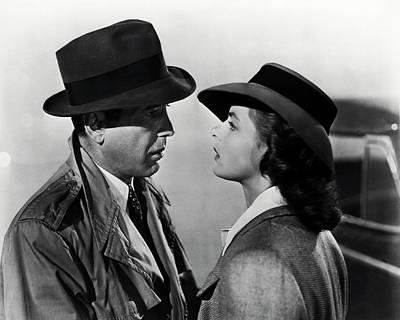 Bogey And Bergman Casablanca  1942 Poster
