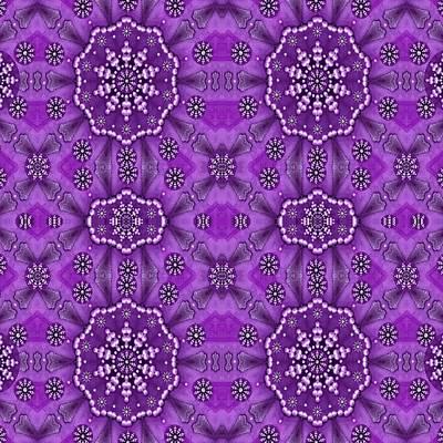 Bohemian Purple Vintages Peace Poster