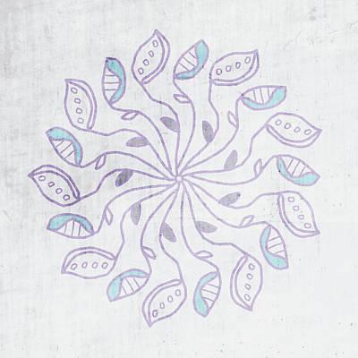 Boho Floral Mandala 3- Art By Linda Woods Poster