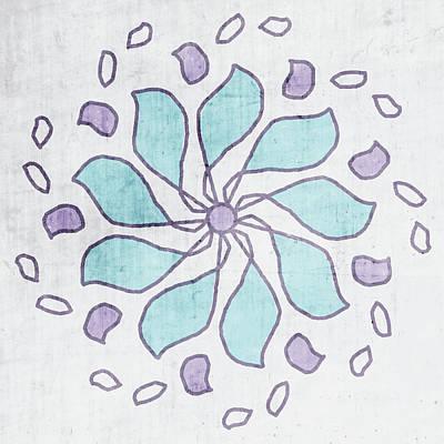 Boho Floral Mandala 4- Art By Linda Woods Poster