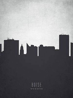 Boise Idaho Cityscape 19 Poster