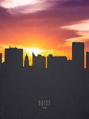 Boise Idaho Sunset Skyline 01 Poster