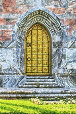 Poster featuring the photograph Bok Tower Door by Deborah Benoit