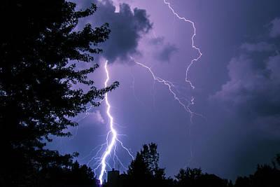 Bold Lightning Strokes Poster