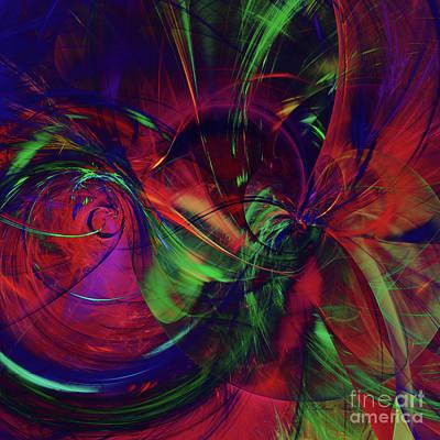 Poster featuring the digital art Bold Red by Deborah Benoit