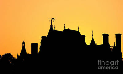 Boldt Castle Silhouette Poster by Olivier Le Queinec