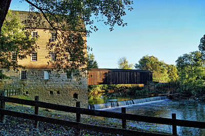 Poster featuring the photograph Bollinger Mill And Bridge by Cricket Hackmann