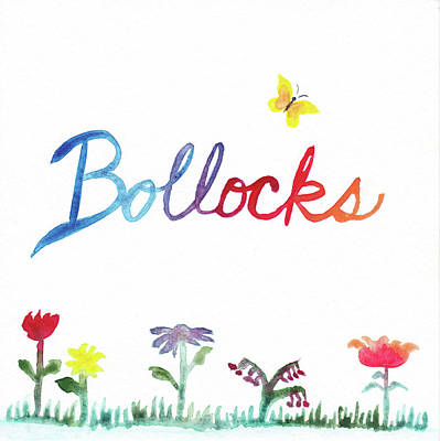 Bollocks Poster by Alicia VanNoy Call