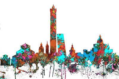 Bologna Italy  Skyline  Poster