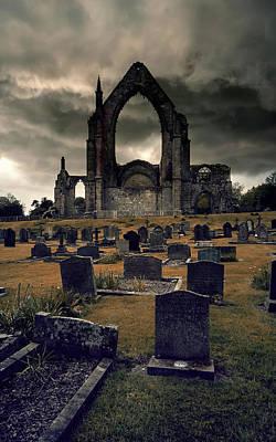 Bolton Abbey In The Stormy Weather Poster by Jaroslaw Blaminsky