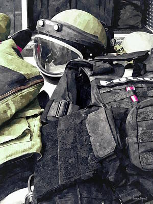 Bomb Squad Uniform Poster by Susan Savad
