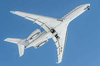 Bombardier Global 5000 Oe-inc Take Off Bottom Poster