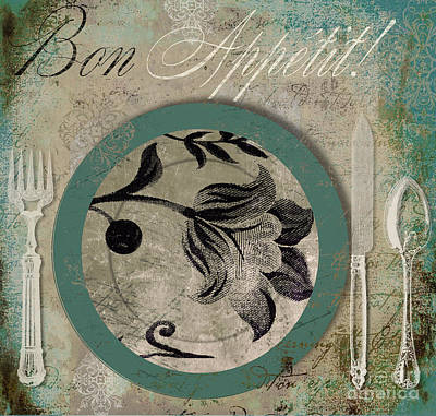 Bon Appetit II Poster by Mindy Sommers