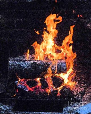 Bon Fire In Fresco Poster by Margie Avellino