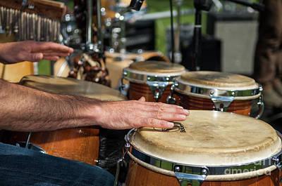 Bongo Hand Drums Poster