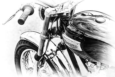 Bonneville Monochrome  Poster by Tim Gainey
