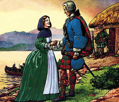 Bonnie Prince Charles And Flora Macdonald Poster by Pat Nicolle