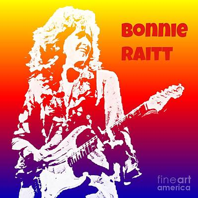 Bonnie Raitt Pop Art Poster by John Malone