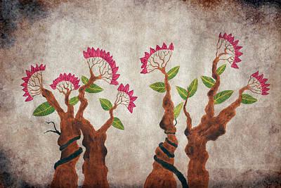 Bonsai Series 6 Vintage 1 Poster by Sumit Mehndiratta