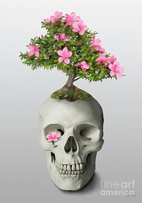 Poster featuring the painting Bonsai Skull by Ivana Westin