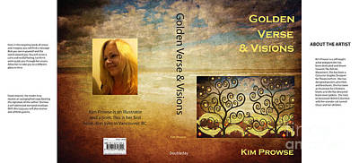 Poster featuring the digital art My Book Jacket by Kim Prowse