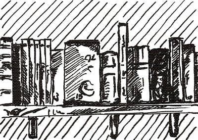 Bookshelf 1 2015 - Aceo Poster
