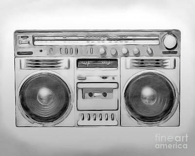 Boombox Poster by Bryan Belles