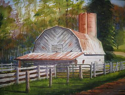 Boone Barn Poster by Shirley Braithwaite Hunt
