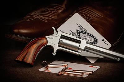 Poster featuring the photograph Boot Gun Still Life by Tom Mc Nemar