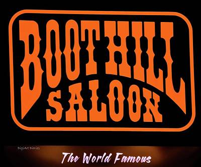 Boot Hill Saloon Sign Poster by DigiArt Diaries by Vicky B Fuller