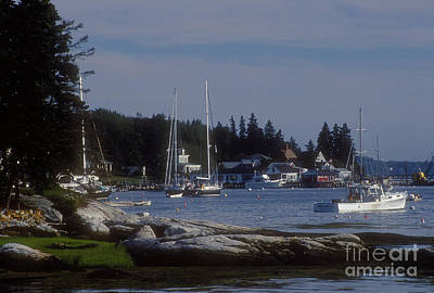 Boothbay Harbor In Maine Poster
