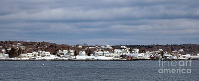 Boothbay Harbor In Winter Poster by Olivier Le Queinec