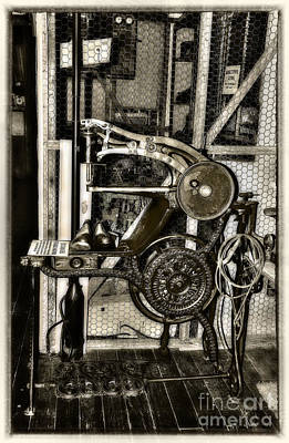 Bootmakers Antique Treadle Machine By Kaye Menner Poster by Kaye Menner