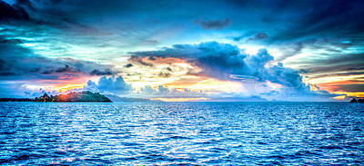 Bora Bora Sunset Poster by Design Turnpike