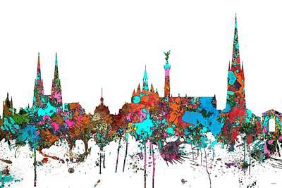 Bordeaux France  Skyline  Poster