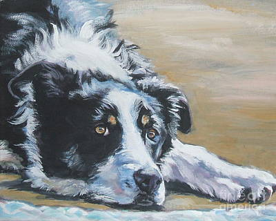 Border Collie Sea Poster by Lee Ann Shepard