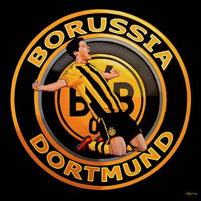 Borussia Dortmund Painting Poster