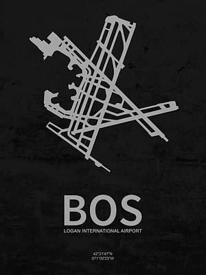 Bos Logan International Airport In Boston Massachusetts Usa Runw Poster