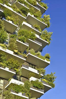 Bosco Verticale Green Facade Poster